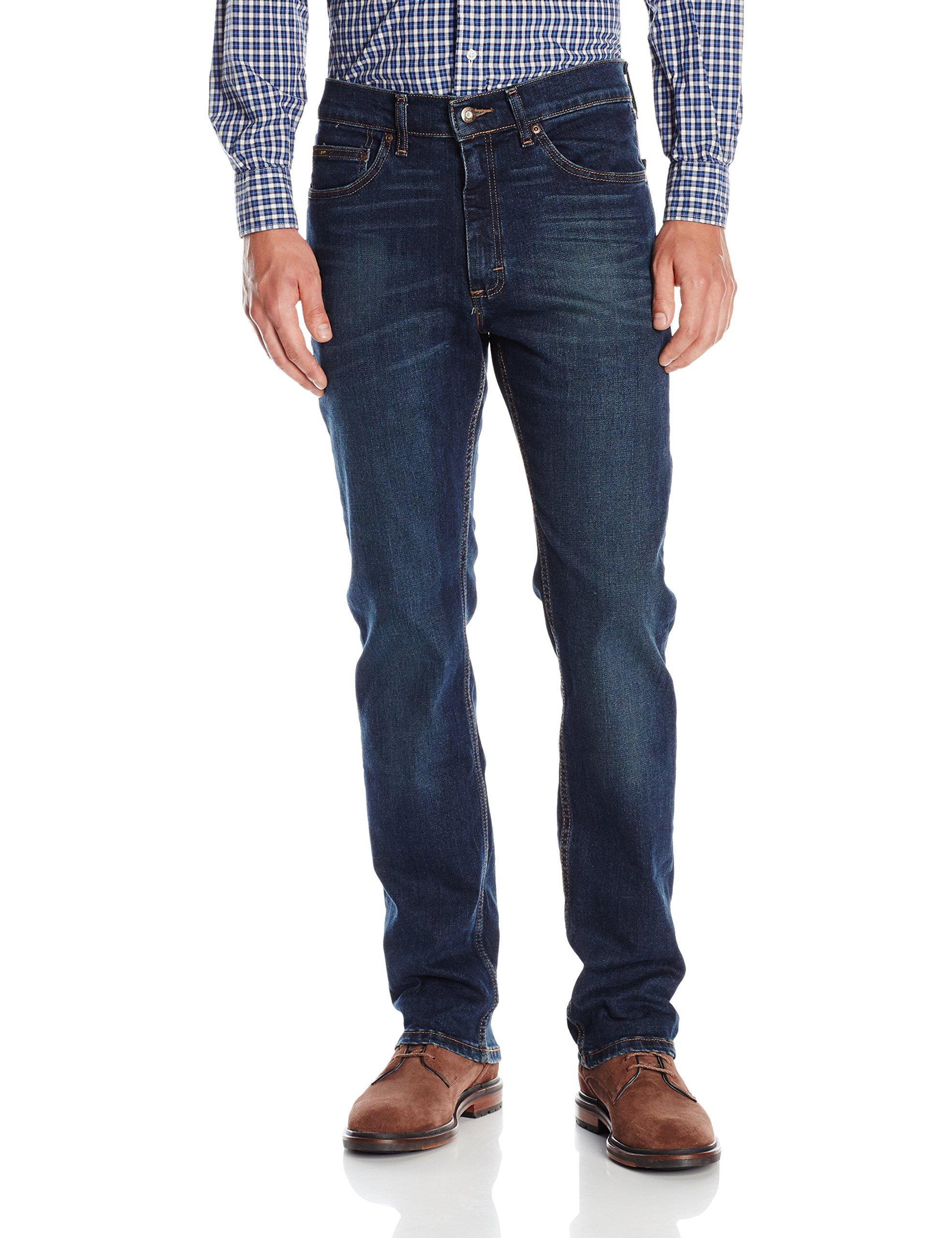 Lee 男式 精选款标准版型直筒牛仔裤