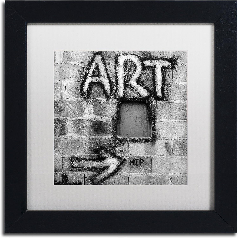 Trademark Fine Art Art by Moises Levy in White Matte and Black Framed Artwork, 11 by 11Inch
