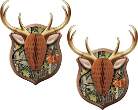 Set of 2 Creative Converting Deer Hunting Camouflage Wall Decoration bundled by Maven Gifts