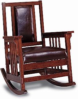 Coaster Home Furnishings CO- Rocking Chair, Tobacco & Dark Brown