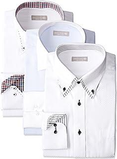 [ドレスコード101] ワイシャツ メンズ 福袋 3枚セット 形態安定 透けにくい 好印象を与えるデザイン Yシャツ ビジネス FUKU-3
