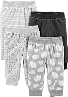 Simple Joys by Carter's 4-Pack Neutral Fleece Pants Unisex-Bimbi 0-24, Pacco da 4