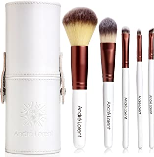 #1 PRO Makeup Brush Set With Gorgeous Designer Case - Includes 5 Professional Makeup Brushes. Best Quality Brushes for Eye Makeup and Face - Top Choice of Pro Makeup Artists