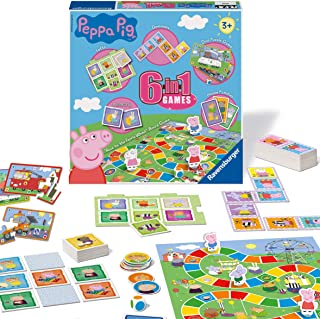Ravensburger Peppa Pig 6-in-1 Games Compendium For Kids & Families Age 3 Years and Up - Bingo, Dominoes, Snakes & Ladders,...