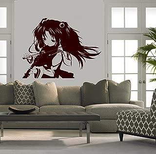 anime girl wall decal