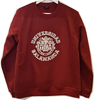 Sudadera Universidad Salamanca Cuello Redondo Color Granate