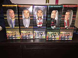 2001 Collectible N Sync Bobble Head Set: Lance Bass, Justin Timberlake, Chris Kirkpatrick, Justin Timberlake, Joey Fatone & JC Chasez