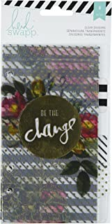 Heidi Swapp American Crafts 312591 Personal Memory Planner Dividers (6 Pack), Clear with Printed Design, Multi