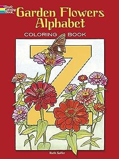 Garden Flowers Alphabet Colouring Book