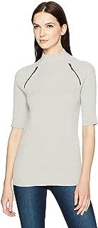 Kenneth Cole Women's Elbow Sleeve Mock Sweater