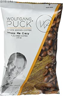 Wolfgang Puck Coffee, Jamaica Me Crazy, each 2.0 ounce Portion Pack makes 8-10 cups (Pack of 18)