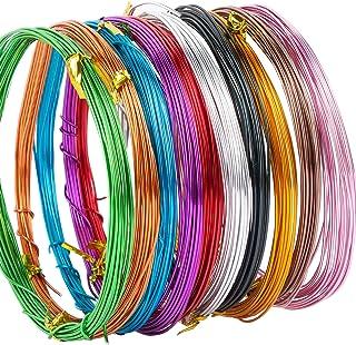 Fil d'aluminium Perlage de Fournitures de Fabrication de Bijoux Fil de Couleur Métallique Flexible (50M+10couleur+1mm)