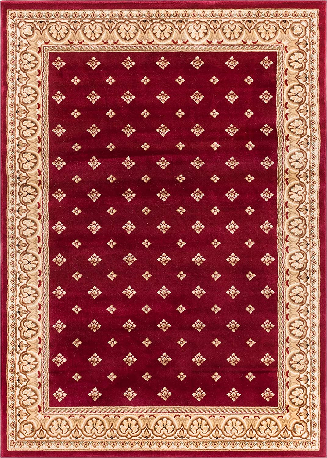 Well Woven Barclay Hudson Terrace Red Traditional Area Rug 6'7'' X 9'6''