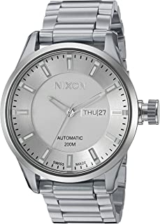 Nixon Men's 'II' Swiss Stainless Steel Automatic Watch, Color:Silver-Toned (Model: A209100-00)