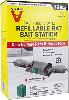 Victor M930 Fast-Kill Brand Ready-to-Use Refillable Rat Station – 8 Blocks