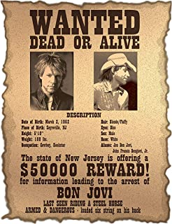 Bon Jovi Wanter Dead Or Alive Iron On Transfer for T-Shirts & Other Light Color Fabrics #2 Divine Bovinity