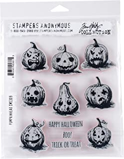 """Stampers Anonymous""""Pumkinhead Tim Holtz Cling Stamps 7"""" x 8.5"""""""