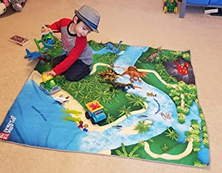 River Monster Collection Toy Dinosaur Play Mat for Toy Animals   Jurassic PlayMat   Large Foldable Solution   Multiple Habitats for All Toy Creatures   Activity Rug   by Toy Fish Factory