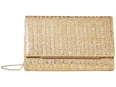 Jessica McClintock Nora (Gold Straw) Clutch Handbags