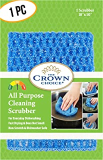 NO ODOR Dish Cloth for All Purpose Dish Washing (1 Pk) | No Mildew Smell from Sponges, Scrubbers, Wash Cloths, Rags, Brush | Outlast ANY Kitchen Scrubbing Sponge or Cotton Dishcloth