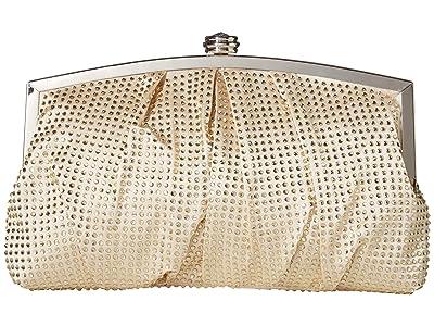 Jessica McClintock Lorena Clutch (Champagne) Clutch Handbags