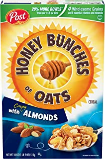 Post Honey Bunches of Oats with Crispy Almonds, Whole Grain, Low Fat Breakfast Cereal 18 oz. Box