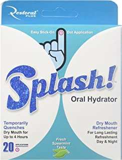 SUMMER SALE! Splash - Oral Hydrator, OrangRefreshment and Relief of Dry Mouth Symptoms. Moisturizes and Refreshes for up to 4 hours (20 count)