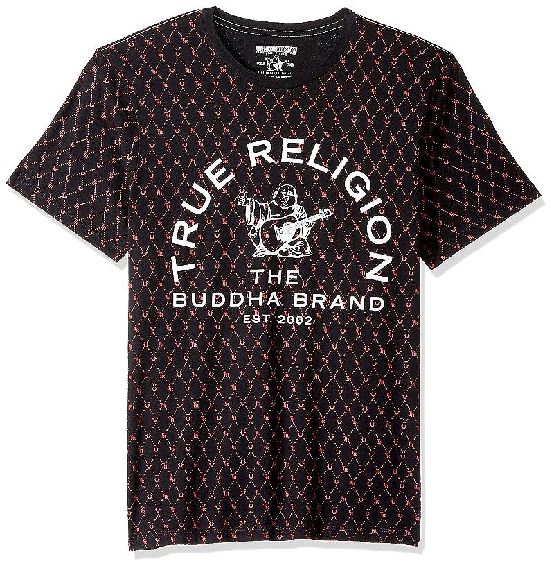 True Religion Men's Buddha Logo Monogram Tee