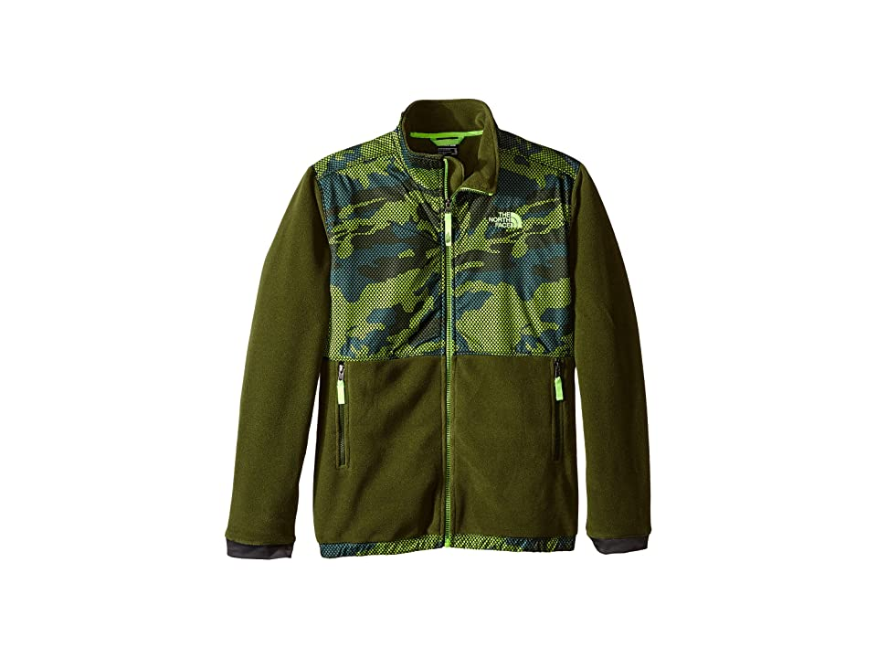 The North Face Kids Denali Jacket (Little Kids/Big Kids) (Terrarium Green Mesh Camo (Prior Season)) Boy
