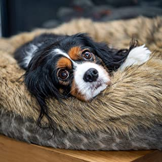 Luxury Dog bed pet bed for medium sized dogs -Luxury calming pet beds faux fur round donut dog beds or cat bed for small a...