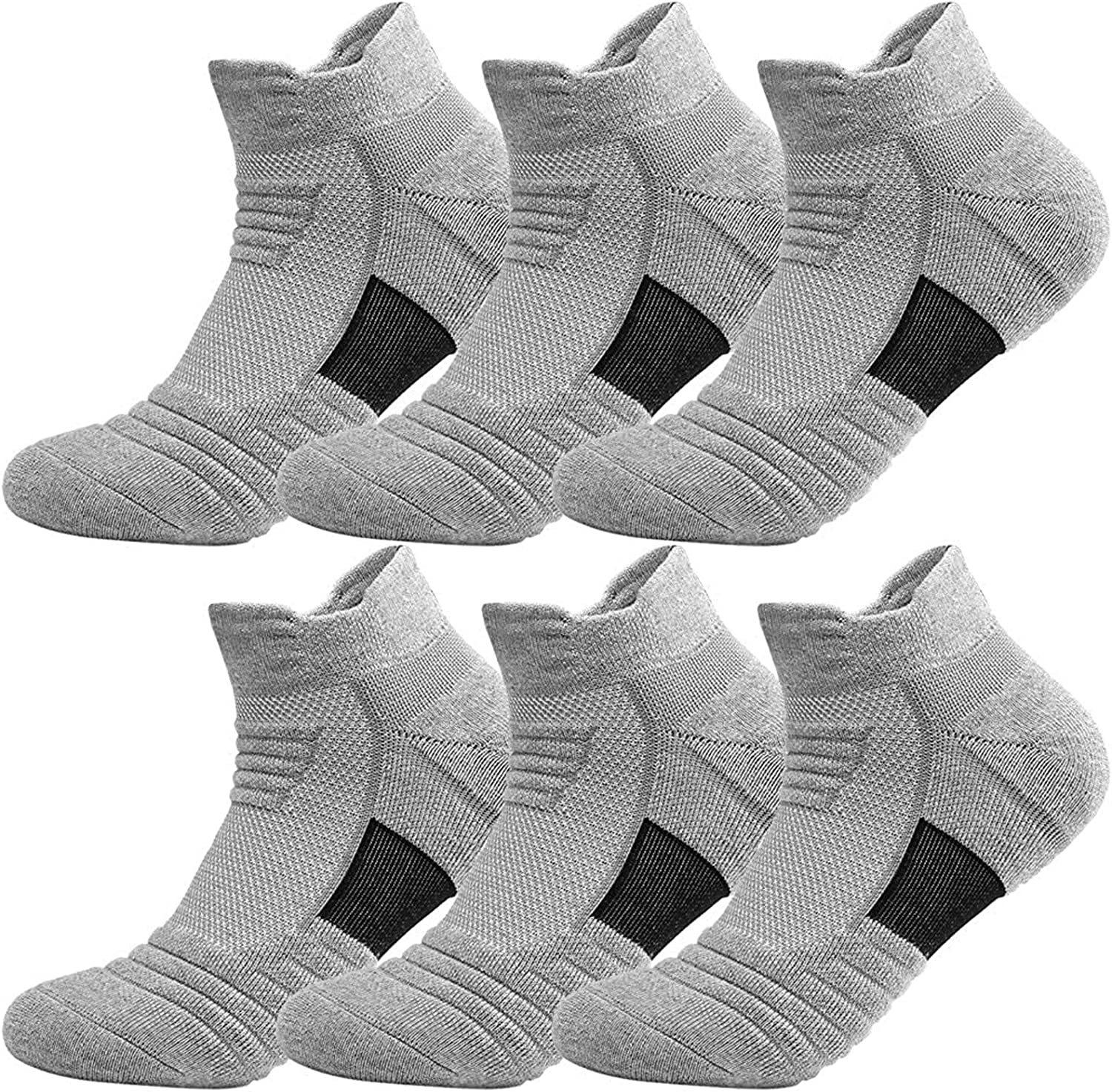 Men High material And Max 56% OFF Women Cotton Socks Athletics Ankle Cozy Sports 6 P