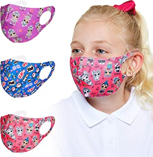 L.O.L. Surprise! Gezichtsbedekking Voor Kinderen - 3-pack Kinder Mondmasker Voor Meisjes Van LOL Dolls - Wasbaar Kinder Mo...