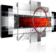 murando - Cuadro 200x100 cm - Abstracto - impresión de 5 Piezas - Material Tejido no Tejido - impresión artística - Imagen gráfica - Decoracion de Pared - Arte a-A-0052-b-n