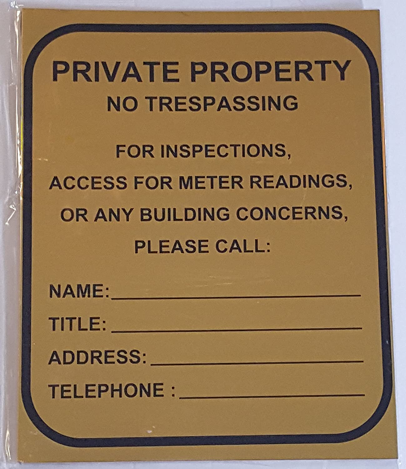 Private Property - NO TRESPASSING Super intense SALE for Access Meter Inspection 5% OFF
