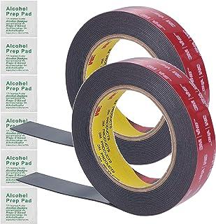 3M 1 Inch Width 15 Ft Length VHB Tape 5952 Black Waterproof Foam Tape Heavy Duty Multipurpose Double Sided Tape for LED St...