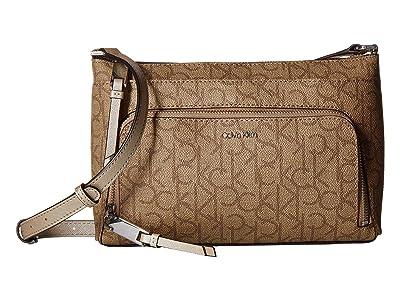 Calvin Klein Key Item Monogram Multi Entry Crossbody (Buckwheat) Cross Body Handbags