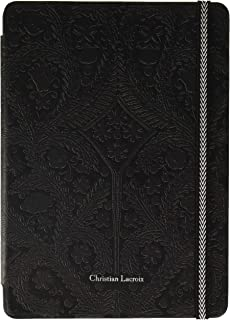 XtremeMac Christian Lacroix Type for iPad Air 2 Folio Case for Tablets Paseo Collection/Elastic Moleskin Closing Black CLPSFOIPADR 2N, Clear