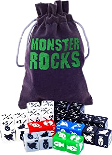 Monster Rocks: 24 Token and Counter Dice for Magic The Gathering.