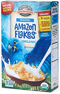 Nature's Path EnviroKidz Amazon Frosted Flakes Cereal, Healthy, Organic, Gluten-Free, 11.5 Ounce Box (Pack of 6)
