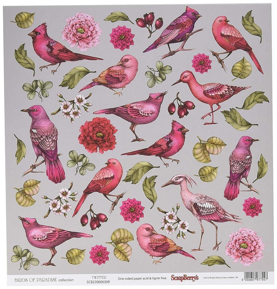 Scrapberry's Tweet Birds of Paradise Double-Sided Cardstock 12X12