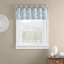 """ستائر نافذة صغيرة من Waverly Stencil Vine قصيرة للحمام وغرفة المعيشة والمطابخ، 52"""" x 18""""، منتجع صحي"""