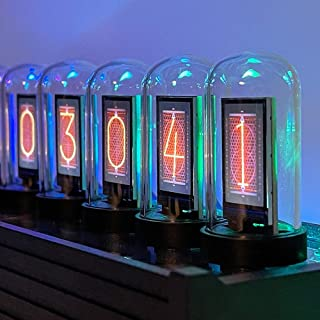 Elekstube IPS Nixieチューブデジタルクロック電子カレンダー6 ビット LCD の時間の写真の表示創造的でレトロな机の装飾のギフト、最もよいボーイフレンドのギフト