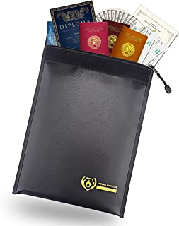 金庫耐火バッグ 書類保管バッグ 貴重品保管 現金収納 防災 防水 [ 並行輸入品 ]