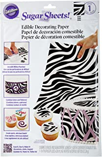 colorful zebra print cake