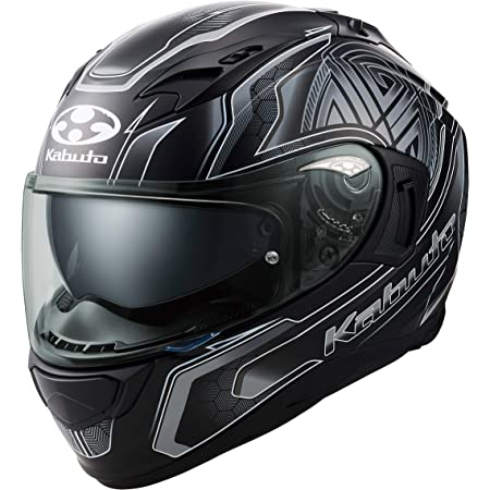 オージーケーカブト(OGK KABUTO)バイクヘルメット フルフェイス KAMUI3 CIRCLE(サークル) フラットブラックシルバー (サイズ:L) 585747