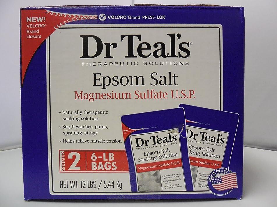 Dr. Teal's Epsom Salt 2 6 Lb Bags