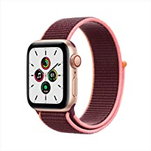 New Apple Watch SE (GPS + Cellular, 40mm) - Gold Aluminum Case with Plum Sport Loop
