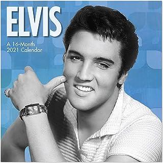 "Day Dream Calendars 2021 Elvis Presley Mini Wall Calendar, 7"" x 7"", Monthly (DDMN022821)"