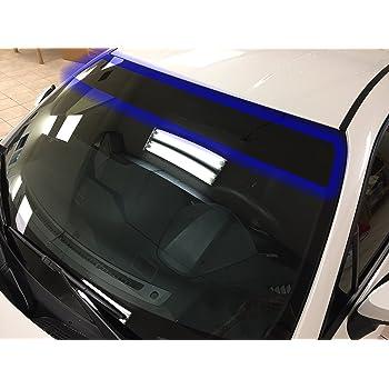 ATMOMO Black Gradual Color Glossy DIY Car Front Windshield Tint Shade Sun Visor Protection Film 7.8 Inch x 98 Feet