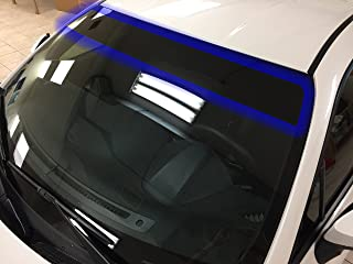 LEXEN Universal Size PreCut Curved Sun Strip Window Tint with 5% Darkest Shade
